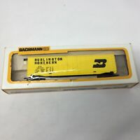 HO Scale Burlington Northern BN 100024 51' Steel Box Car Electric Train Yellow