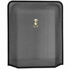 Fire Guard Black Brass Fireside Fireplace Screen Freestanding By Home Discount