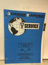 1994 OMC Evinrude Johnson Outboard Parts Catalog Manual 2, 2.3 3.3 MODELS