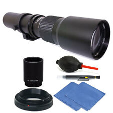 Vivitar 500mm/1000mm f/8 Telephoto Lens for Nikon D90  D500 D3000 + 2X Converter