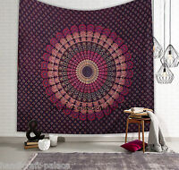 Indian Mandala Tapestry Hippie Throw Bohemian Wall Hanging Queen Bedspread Decor