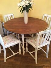 Oak with Drop Leaf and 5 Pieces Table & Chair Sets