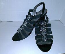 Karen Scott Women's Open Toe Slide In Black High Heel Shoes Size 9.5 M