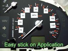 UK Speedometer speedo cluster Conversion kit Stickers mph kph km kmph import NEW