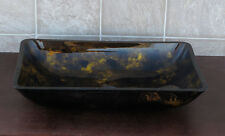 Bathroom Rectangular Art Glass Vessel Vanity Sink 9014