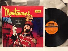 MANTOVANI E LA SUA ORCHESTRA - OPERETTA IN STEREO LP 1972 1st PRESS LAMINATED CV