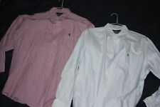 Lot of 2 Polo by Ralph Lauren Mens Yarmouth Dress Shirts 16 1/2 32/33 Oxford