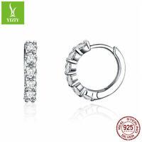 European 925 Sterling Silver Luxury Zircon Earrings  Mother Day Jewelry Gifts