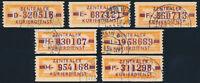 DDR-Dienst, B 22, Lot 7 Stück verschiedene Buchstaben, gestempelt, Mi. 97,-