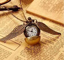 Quidditch Hogwarts Gold Snitch Pocket Watch Clock Cosplay Funs Gift Boys Girls