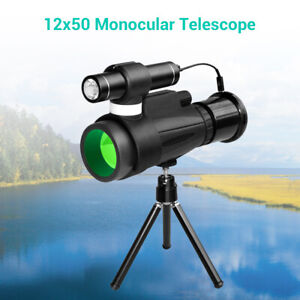 12x50 Wifi IR Infrared Night Vision Monocular + Phone Holder for Hunting!