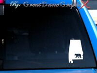 Alabama Bear Hunting State Vinyl Decal Sticker / Color - HIGH QUALITY
