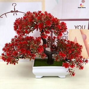Artificial Bonsai Fake Flower Plant Pine Potted Tree For Home Wedding Decoration