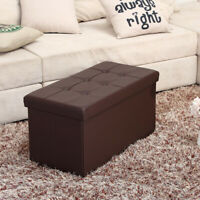 """Foldable Large Storage Ottoman Bench Foot Rest Stool/Seat - 30 x 15 x 15"""""""