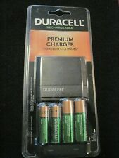 Duracell Premium Charger w/ (2)-AA / (2)-AAA Rechargeable Batteries INCLUDED NEW