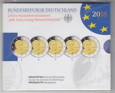 Deutschland  2 Euro Gedenkmünzenset 2018  Helmut Schmidt  Polierte Platte