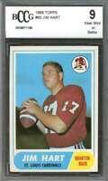 1968 topps #60 JIM HART st louis cardinals rookie card BGS BCCG 9