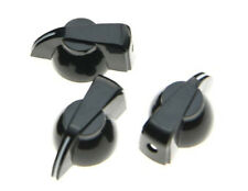 *NEW Set of 3 CHICKEN HEAD POINTER KNOBS for Amps, Pedals + Guitars Black