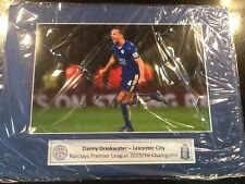 Danny Drinkwater Leicester City Hand Signed Mounted A3 Photo PL Champions