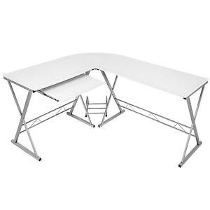Schreibtisch Winkelschreibtisch Eckschreibtisch Computertisch Büro Weiß