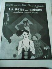 Publicité advertising 1930  La Reine des Crème Pierrot Arlequin