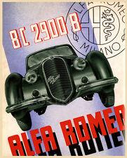 ALFA ROMEO MILANO Vintage Auto Poster Advertising Canvas Print 22x27