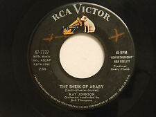Ray Johnson 45 SHIEK OF ARABY / DEEP ARE THE ROOTS ~ RCA VG+