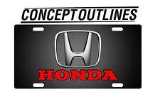 Honda Premium Aluminium License Plate Tag Custom For Car or Room
