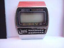 RARE Vintage Men's Seiko C359-5000 Calculator Alarm LCD Digital Watch to fix!