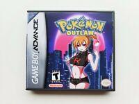 Pokemon Outlaw Gameboy Advance GBA Game / Custom Case - Fan Hack (USA Seller)