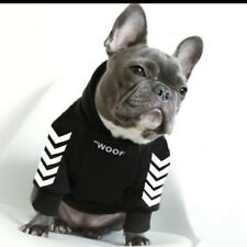Dog Fashion Clothes Medium Size Black and White  Striped Cute Pullover French