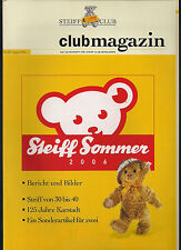 STEIFF Club Magazin - Nr. 58 - August 2006
