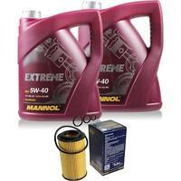 Inspektionspaket 10L MANNOL Extreme 5W-40 Motoröl + Filterset 10203721