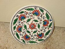 Vintage Mexican ? European ? Round Wall Tile Floral Foliage Estate Last One