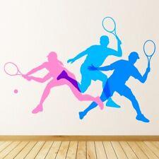 Giocatori di tennis Pink Blue Bat Ball Adesivo Murale WS-47410