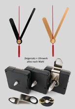 Quarz Uhrwerk lautlos mit Zeigersatz 65 mm Alu für Wanduhren 6,5 cm ohne ticken