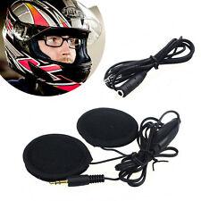 MOTO MOTORCYLE In-Helmet ALTOPARLANTI cuffie auricolari 3.5 mm jack Mp3 Telefono