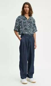 $168 Levi's Made & Crafted Indigo Denim Baggy Trousers sz 29x32 nwt 675150000