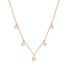 Rose Gold Plated 5 x Cubic Zirconia Georgini Necklace IP669RG RRP $139.00