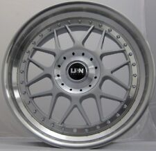 "NEW 18"" LRN BLITZ ALLOYS 5X120 BMW E46 E90 E91 E92 E93 3 SERIES Z3 Z4 SILVER POL"