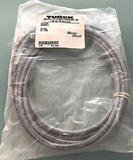 Turck Cable Cordset Straight Male 5-Pin to Cut End 5-Wire 22/AWG/4 300V 5M Gray