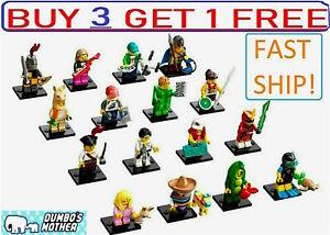 Lego Series 20 Minifigures 71027 Llama Pajama Viking Piñata Pea Pod Sea Diver