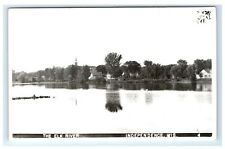 Postcard The Elk River, Independence, Wisconsin WI RPPC H15