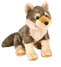 "Wild Republic Cuddlekins 12"" Wolf Plush Soft Toy Cuddly Teddy 10963"