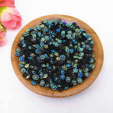 500pcs 4mm AB Black Sunflower Crystal Lot Facets Resin FlatBack Rhinestone