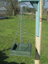 Hanging Wild Bird Table Feeder Hand Made in UK. Solid Timber Choice of Colour