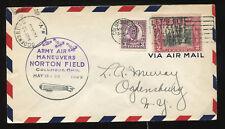(1929) Army Air Maneuvers Norton Field Columbus Ohio Air Mail cover