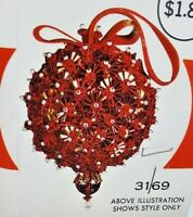 Walco PINPOINT PRETTY Blue//Green Vtg Sequin Bead Christmas Ornament Craft Kit
