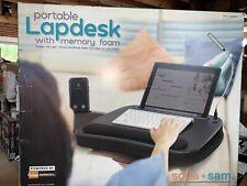 Sofia+Sam Laptop Desk with Led Light and Memory Foam Mouse Platform