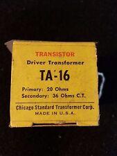 Stancor TA-16 Driver Transistor Vintage Chicago Standard Transformer Company